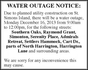 Water Outage ad 12-10-13