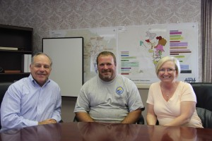 Mr. Swan, Executive Director; Derrick Simmons and Heather Ott, HR Manager