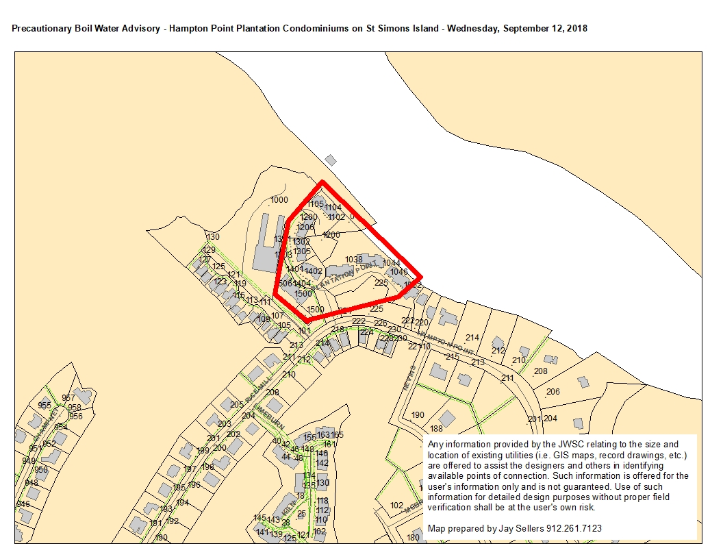 Boil Water Advisory Brunswick Glynn County Joint Water Sewer